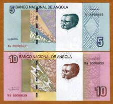 SET Angola, 5;10 Kwanzas, 2012 (2017), P-New, UNC > Waterfalls