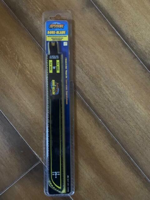 "-3-Pack 10/"" bi-metal steel Spyder 200014 7 by 7 TPI Bore-Blade, 2"