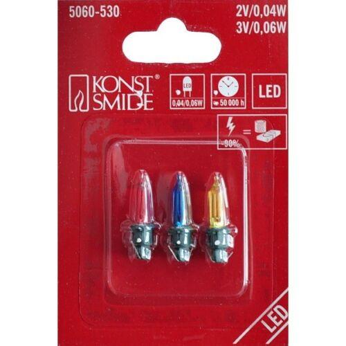 LED Ersatzbirnen für Außenlichterkette 40-200er bunt 3V 0,06W 5060-530 xmas
