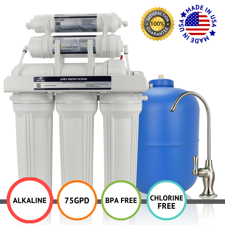 APEX MR-6075 6 étape 75 Gotham Police Department pH alcalin + Osmose Inverse Osmose Inverse Filtre à Eau Système