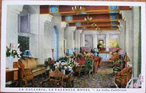 La-Jolla-CA-1920-Postcard-La-Valencia-Hotel-Interior-California-Cal