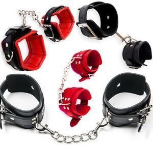 29-ver-Neu-Luxus-Set-Handschellen-Handfesseln-Fussfesseln-Halsband-Augenmaske