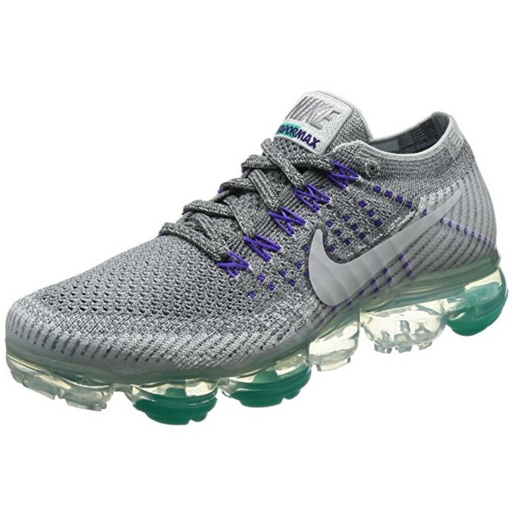 Nike air vapormax donne flyknit, cool grey / bianco puro platino dimensioni