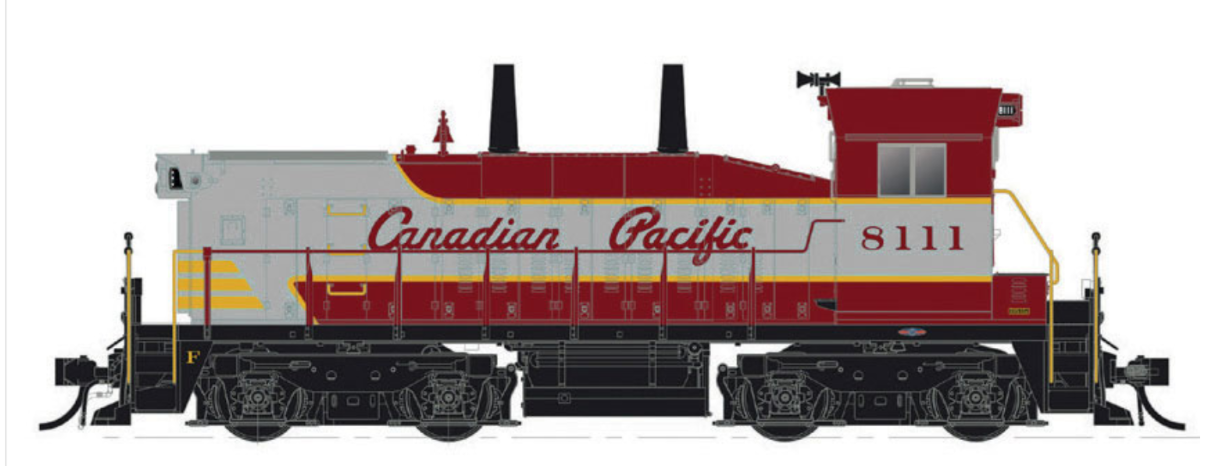 RAPIDO 1/87 HO CP CANADIAN PACIFIC SW1200 RS RD.  8156 DCC & SOUND 26511 F/S