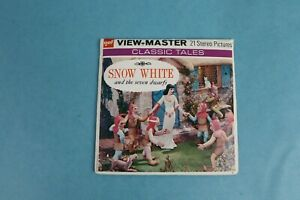 VINTAGE VIEW-MASTER 3D REEL PACKET B300 DISNEY SNOW WHITE COMPLETE