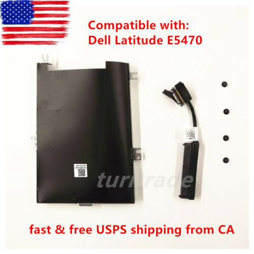 New Dell Latitude HDD Cable Connector 80RK8 Caddy Frame Bracket 04JMFP US
