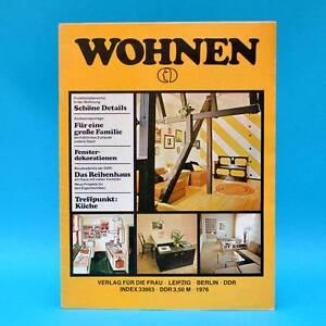 Ddr Wohnen 1976 Zeitschrift Wohnen Einrichten Innenarchitektur N
