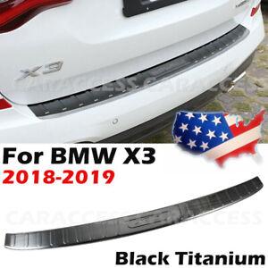 Black Titanium Rear Bumper Protector Sill Plate Guard