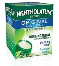 Mentholatum Original Topical Analgesic Ointment Aromatic Vapor Rub Pain Relief