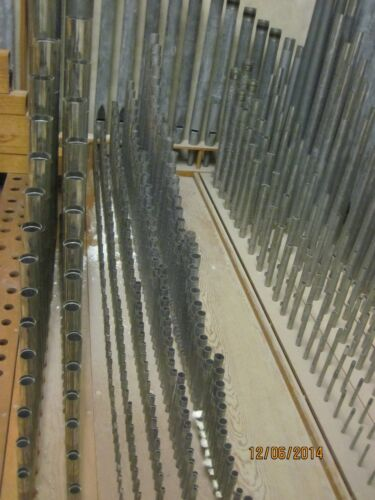 1929 Original UNC Chapel Hill Hill Hall Organ V Mixture 1 rank 2bk Pipes 10 Left
