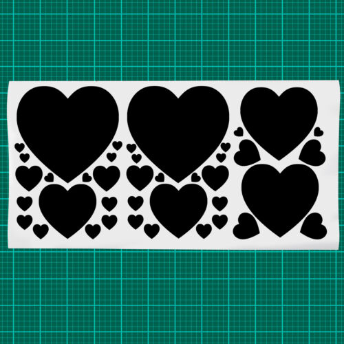 40 X Día de San Valentín Corazón Calcomanía Pegatinas para ventanas paredes y más!