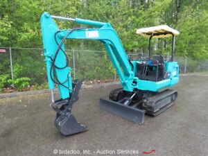 Kubota-KX-021Mini-Excavator-Rubber-Tracks-Backhoe-Hyd-Thumb-Dozer-Blade-bidadoo