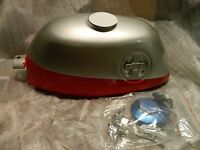 Honda Z50 Mini Trail Z 50 Red/sliver W/ Locking Gas Cap And Off/on Valve