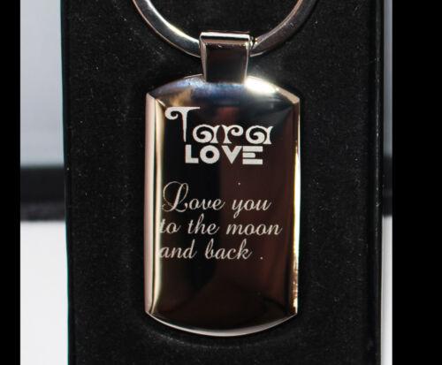 Dad,mum,Grand Personalised Metal Keyring Photo Printed,Photo Engraved Xmas Gift