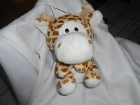 Kellytoy Kelly Toy Plush 10 Baby Tan Brown Rust Giraffe Big Head Diaper Chubby
