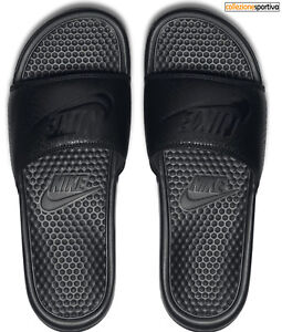 CIABATTE-INFRADITO-UOMO-DONNA-NIKE-BENASSI-JUST-DO-IT-343880-001-col-nero-bianco