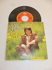 "ARNE JANSEN - Ik Doe Alles Voor jou - 1988 Dutch 7"" Juke Box Vinyl single"