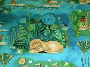 Julia-CairnsThe-Migration-African-Animal-Scenic-24974-Q-Teal-Fabric-BTY