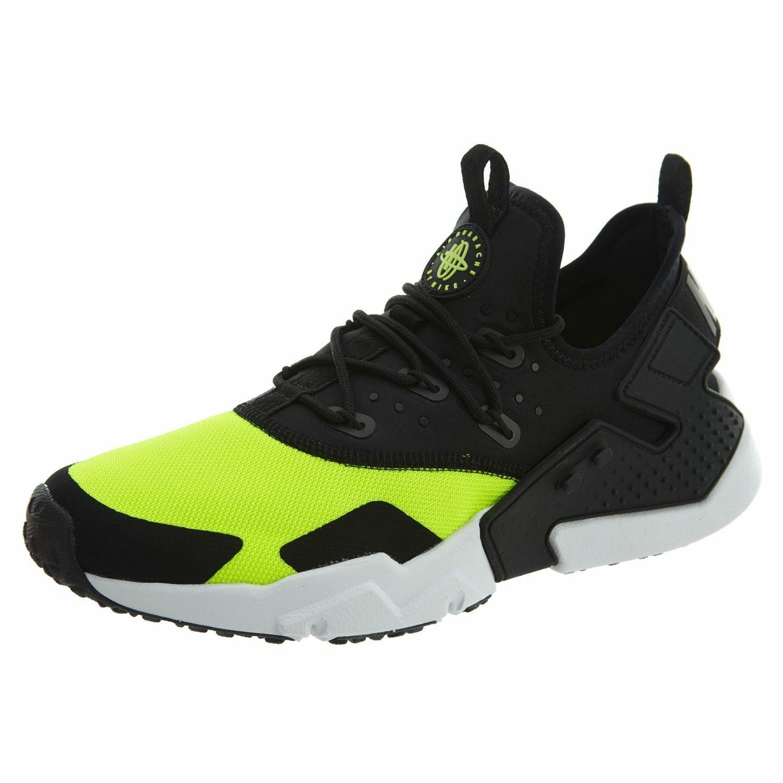 Men's Nike Air Huarache Drift Casual shoes Volt   Black   White 10.5 AH7334 700