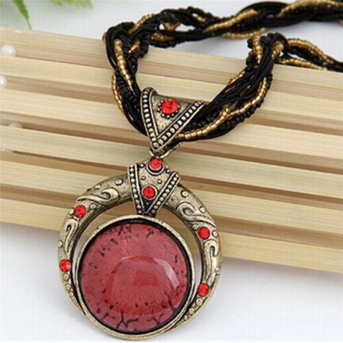 VINTAGE Bohème Lune Dieu Turquoise collier pendentif boucles d/'oreille Fashion Jewelry S