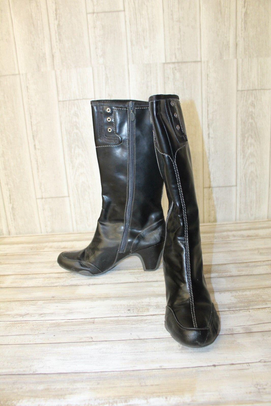 FRYE Black Heel Boots - Women's size 10 - Black