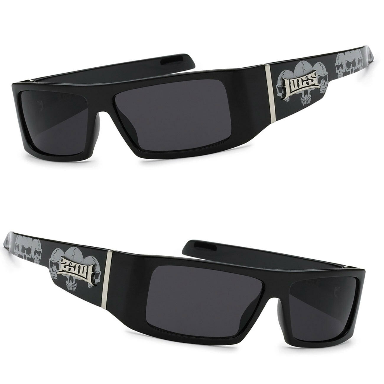 Locs Authentic Sunglasses Super Dark Lenses Motorcycle OG Style Black LC26 USD