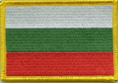 Ricamate Bulgaria bandiera bandiera aufbügler Patch 8 x 5 cm