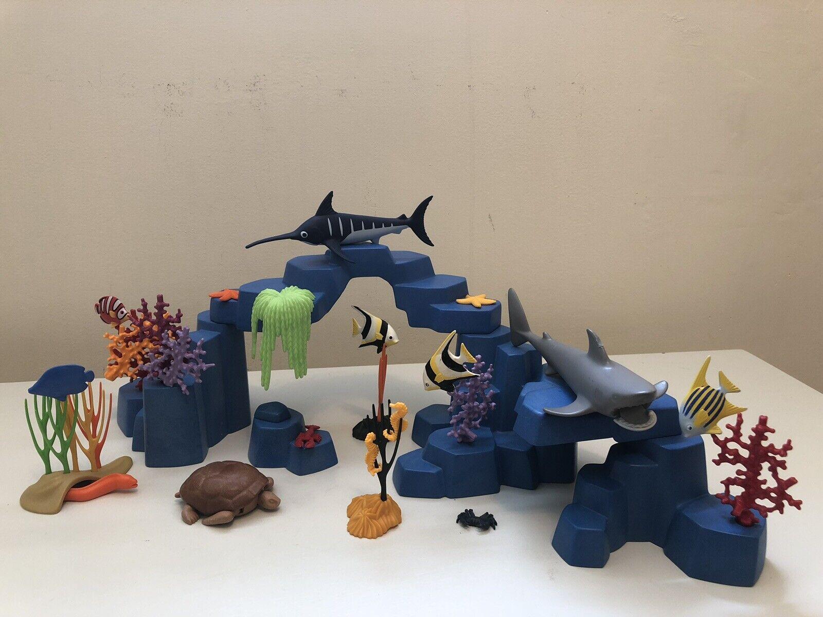 Playmobil Huge Lot Beautiful blu Custom Coral Reef  Ocean Fish  consegna lampo