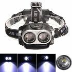 Elfeland 30000Lm 2x T6 LED Headlamp Headlight Lamp Torch Rechargeable USB Cable