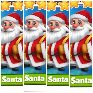 Details about Coin Master Card's Pack of 4x Santa (Fastest Delivery)