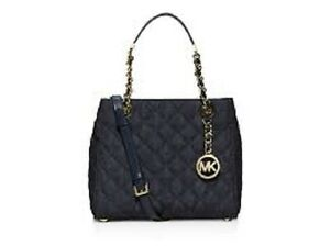 82c3035e4db3 Image is loading New-MICHAEL-KORS-Susannah-Quilted-Small-Satchel-Crossbody-