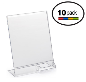 85 x 11 clear acrylic slanted sign holder displays with business image is loading 8 5 x 11 clear acrylic slanted sign colourmoves Choice Image