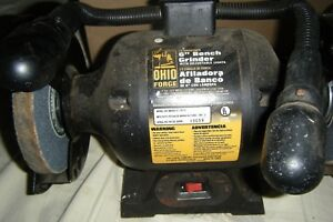 Marvelous Details About Ohio Forge 6 Bench Grinder 1 2 Hp 59515 W Work Lights 6571 Ocoug Best Dining Table And Chair Ideas Images Ocougorg