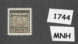 1744-MNH-1939-Overprint-stamp-10-Hal-BaM-Protectorate-Third-Reich-occupation