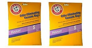 Hoover-Type-S-Arm-amp-Hammer-Odor-Eliminating-Vacuum-Bags-2-Packs-of-3-Bags