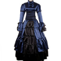 Victorian Southern Belle Prom Dress Cosplay Ball Theater Lolita Gothic Costume