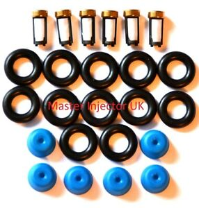 Fuel Injector Service Kit Injectors Suits 6 Cyl BMW 3mm Pintle Cap Hole