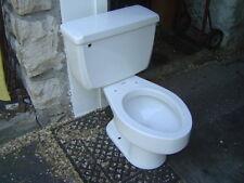 VINTAGE 1970's ONE FLUSH American Standard toilet 4049 ELONGATED bowl WHITE