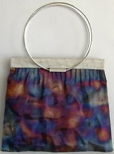 Norma Plum Purse Exclusive Handmade Hand Bag Blue Plum Silver Wire Mesh New Gift