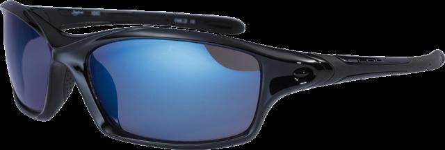 BLOC Wrap Sunglasses DAYTONA Jet Black Ice Blue Mirror XB60 **WARRANTY**