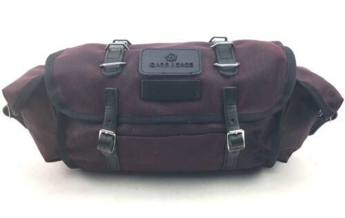 Carradice Barley BURGUNDY Cotton /& Leather 9l Saddlebag TOUR AUDAX