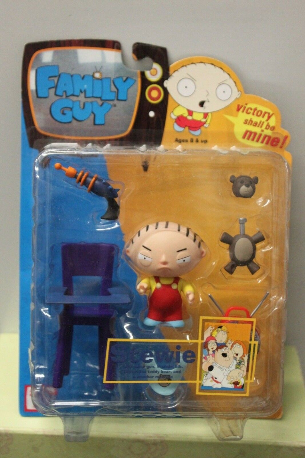 STEWIE FAMILY GUY 2004 Mezco Series 1 TV Carton Griffin Action Figure Toy NEW