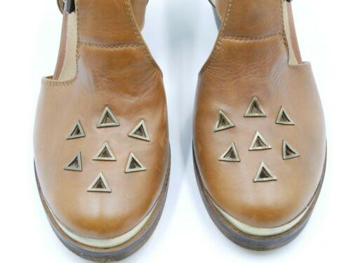 oro marrone a In motivo fibbie con pelle Sandalo e scarpe Punta rombi Schuh a4PII8