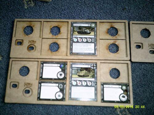 3x 5 Slot In Game Card Holder Template GaleForce 9 Tanks Skirmish Game