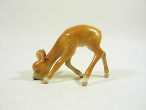 HEREND-YOUNG-DEER-FAWN-STAG-GRAZEING-4-4-034-HANDPAINTED-PORCELAIN-FIGURINE