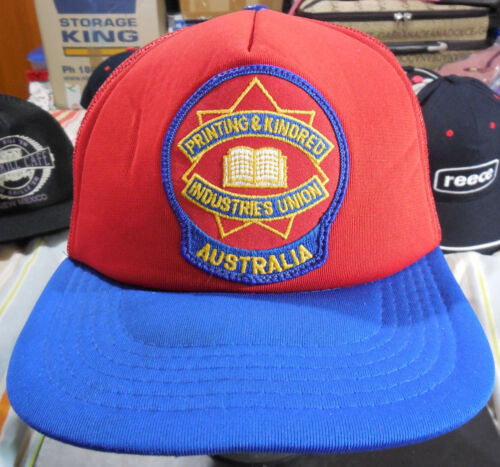 """PRINTING & KINDRED INDUSTRIES UNION AUSTRALIA"" MESH TRUCKER CAPHAT SNAPBACK"