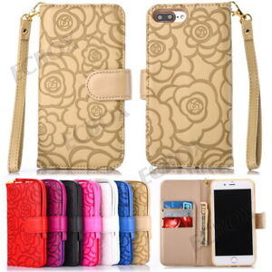 Luxury-3D-Rose-Flower-Embossing-PU-Leather-Wallet-Purse-Case-For-Various-Phones