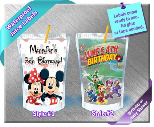 Mickey Minnie Mouse ~ Capri Sun Juice Labels Birthday Party Baby Shower Supplies