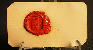 The-Burelle-of-Aubigny-D-Assy-Stamp-Wax-Coat-Arms-Seal-Heraldic