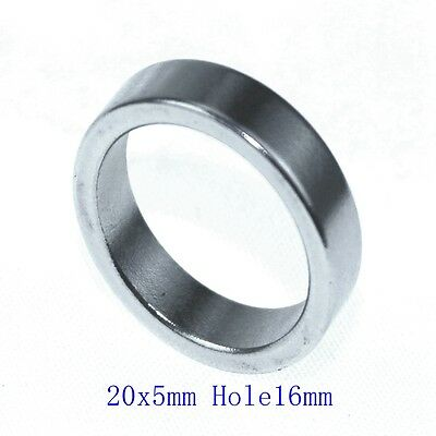 3 PCS N38 Diameter 20mm x5mm Hole 16mm Ring Round Neodymium Permanent Magnets